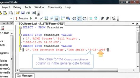 sql insert into new table enter data into a new database table sql training by