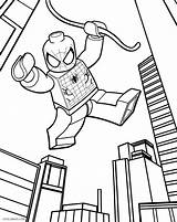 Lego Coloring Pages Spiderman Printable sketch template