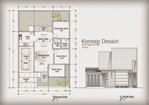 desain rumah minimalis  lantai ukuran  model rumah