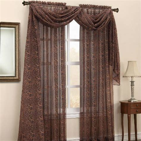 leopard print curtains drapes details about leopard skin animal print sheer curtain
