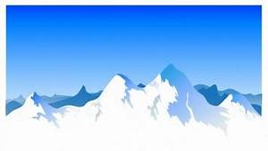 Snow mountains clipart - Clipground