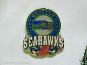 vintage seattle seahawks football logo pin ebay