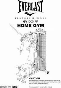 Ev1000-pp Home Gym Manual