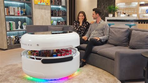 coosno redefines  coffee table   voice controlled
