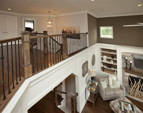 Second Home Decorating Ideas: How To Decorate Staircase Landing Which Overlooks Great Room