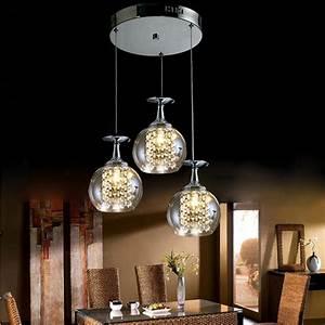 Lustre Pour Salon : affordable led en verre lustre en cristal moderne ~ Premium-room.com Idées de Décoration