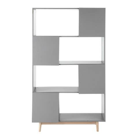 biblioth 232 que vintage en bois grise l 110 cm artic maisons du monde
