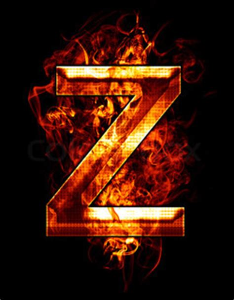 Z Background Small Letter Z On A Black Background Stock Photo