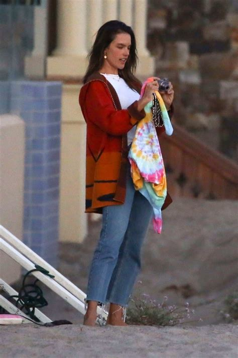 alessandra ambrosio enjoys the beach with her kids and ex ...