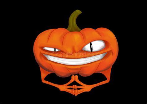 evil pumpkin stock illustration illustration  evil