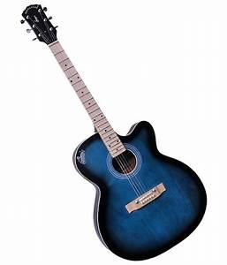 Signature Blue G 150 Acoustic Guitar With Free Plectrum  U0026 Bag