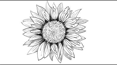 draw sunflower youtube