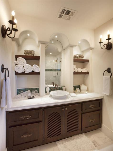 clever bathroom storage ideas hgtv