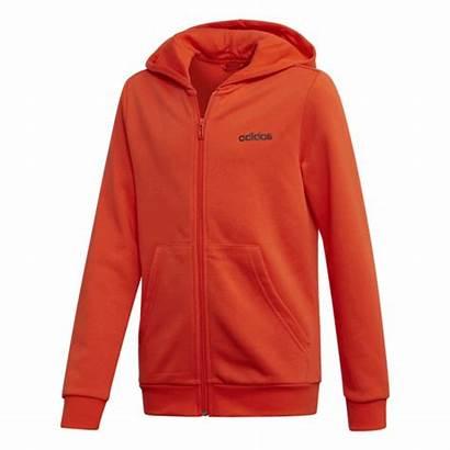 Adidas Hoodie Essentials Orange Zip Linear Active