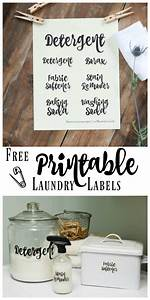 Laundry Room Organization and Printable Labels Creative Home