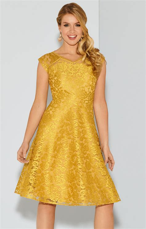 paris occasion dress short saffron gold evening dresses