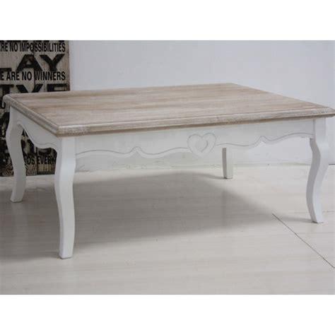 Tavolino legno bianco shabby francese Etnico Outlet
