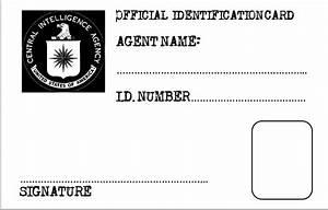 secret agent id card template car interior design With spy id card template