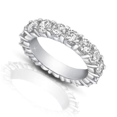 4 00 ct ladies round cut diamond eternity wedding band ring