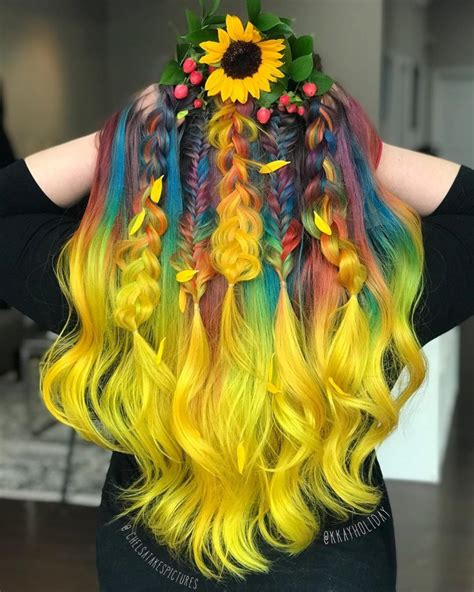 rainbow hair color pictures rainbow hair color pictures 17 best ideas about rainbow