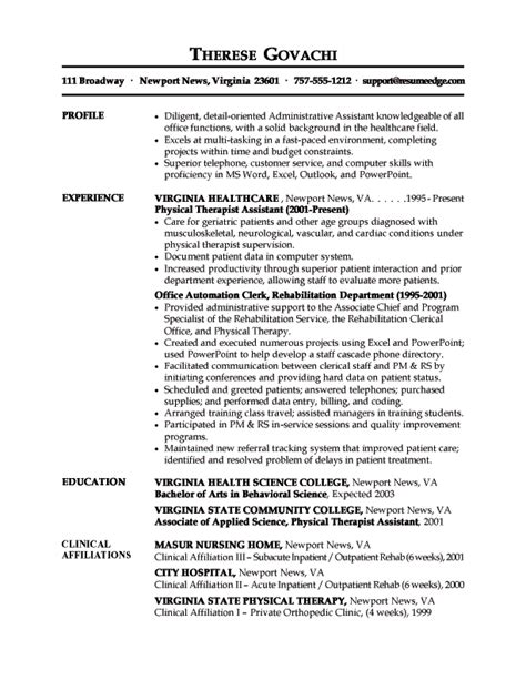 Administrative Support Specialist Resume Exles by Administrative Assistant Resume