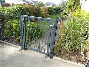 portillon jardin fer portail acier sur mesure sfrcegetel With portail de jardin pas cher