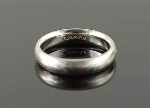 platinum 5mm rounded plain heavy men39s wedding band ring With size 10 5 wedding rings
