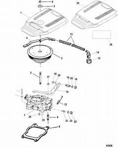 Mercruiser 4 3l  Gen    4barrel  Reman Carburetor  U0026 Throttle Linkage  Four Barrel  Parts