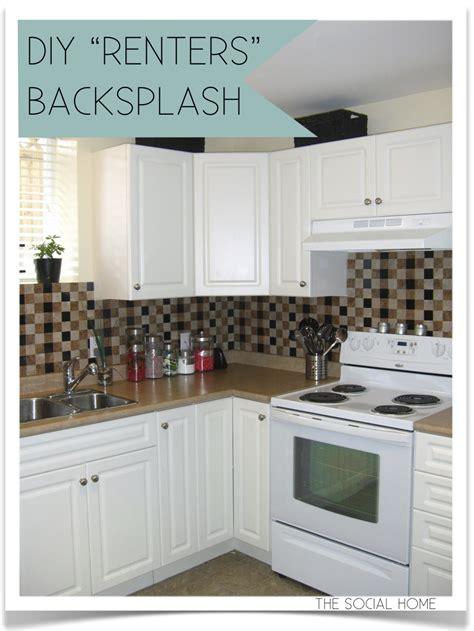 diy quot renters quot backsplash with vinyl tile - Diy Tile Kitchen Backsplash