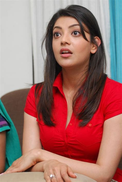 kajal agarwal hot photo stills  red dress tollywood