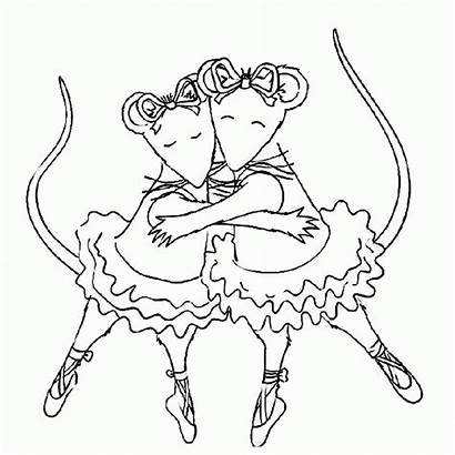 Coloring Ballerina Nutcracker Pages Angelina Library Clipart