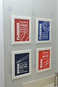Baseball themed bedroom decor project nursery for Sports themed bathroom decor