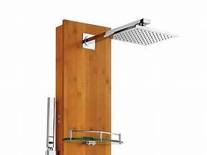 Colonne De Douche Avec Tablette : colonne de douche design en bambou ~ Melissatoandfro.com Idées de Décoration