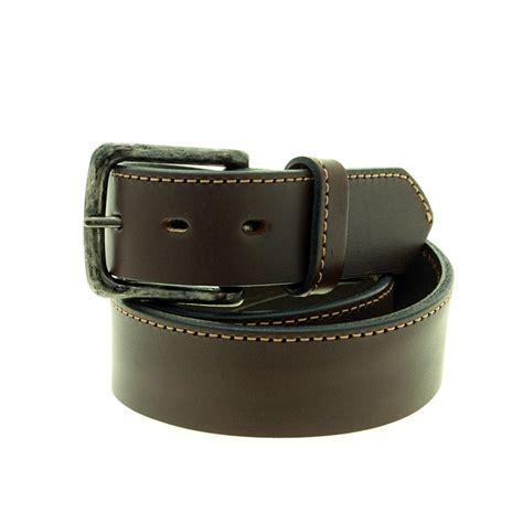 Thick Cowhide Leather by Thick Cowhide Leather Belt With Stitch El Boyero