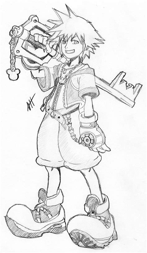 Free Printable Kingdom Hearts Coloring Pages For Kids | Heart coloring pages, Kingdom hearts
