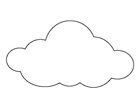 cloud template large cloud pattern use the printable outline for crafts creating stencils scrapbooking and