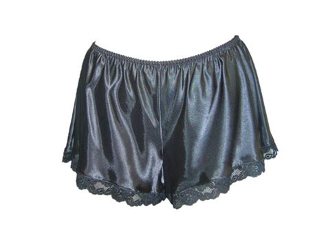 Ladies Womens Lace French Knickers Silk Satin Lingerie