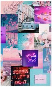 Pink and blue aesthetic desktop wallpaper   Cute desktop ...