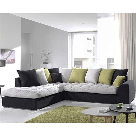 imperméabilisant canapé tissu canap angle gris et noir en tissu sofamobili
