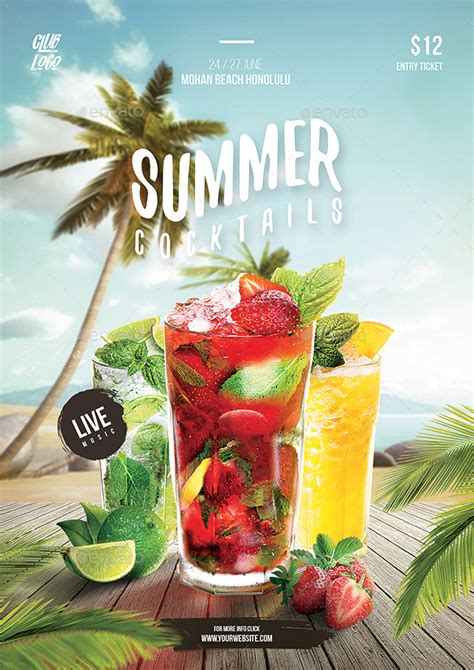 Summer Cocktail Party Flyer By Bornx Graphicriver