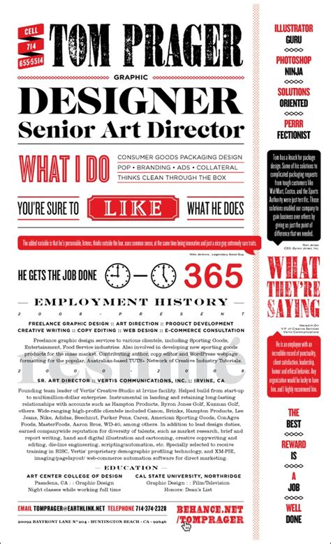Wanted Resumes by Resume As Wanted Poster By Tom Prager Via Behance Infographics Design Design