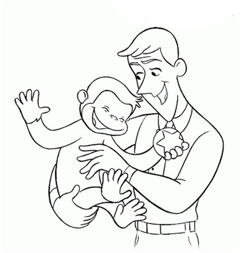 Curious George Coloring Pages The Sun Flower Pages