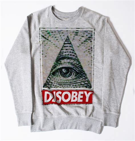 obey clothing illuminati new disobey illuminati sweatshirt dope swag