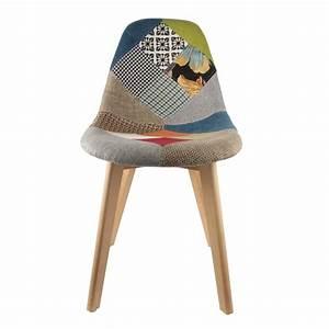 Housse Chaise Scandinave : lot de 2 chaises design scandinave patchwork color ~ Teatrodelosmanantiales.com Idées de Décoration