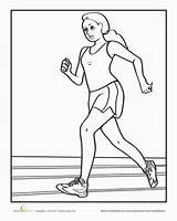 Coloring Pages Running Sports Track Race Sheets Worksheet Child Printable Run Preschool Sport Runner Field Education Olympic Worksheets Hebrews Person sketch template