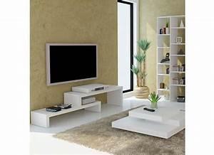 Meuble Mural Chambre : meuble mural chambre 5 meuble tv design blanc 125 cm skien digpres ~ Teatrodelosmanantiales.com Idées de Décoration