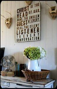 25 best dining room quotes on pinterest entryway quotes for Best brand of paint for kitchen cabinets with jesus christ wall art