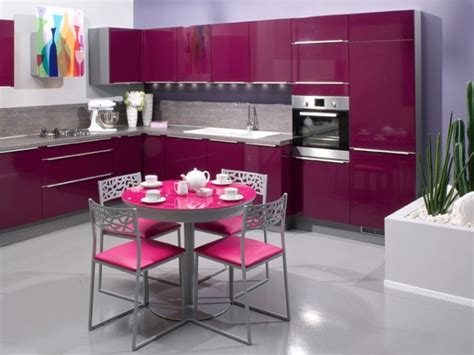 cuisine aubergine et grise cuisine girly cuisines aviva cuisine girly de couleur