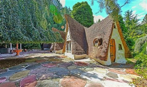 whimsical cottage straight   snow white