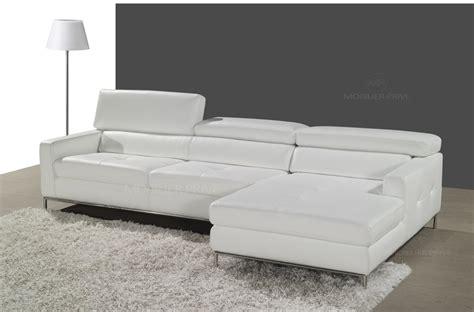 canapé cuir blanc angle canap mobilier privé
